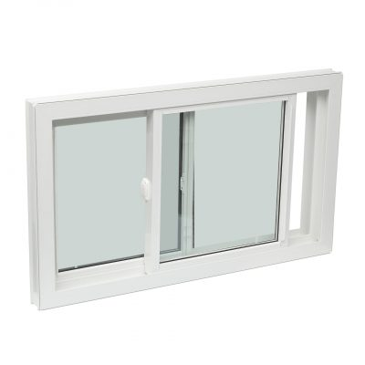 SINGLE LIFT OUT - Single tilt slider lift out windows include one stationary and one operable window sash. This window moves side to side and the sashes lift out for easy cleaning.