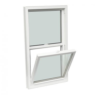 DOUBLE HUNG - Dual or double-hung vinyl windows have two operable sashes that slide vertically and tilt for easy cleaning. One or both sashes can be opened simultaneously for better ventilation.