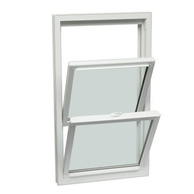 SINGLE - A single-hung window consists of a stationary sash and an operable sash that moves up and down. The operable sash also tilts inward for easy cleaning.