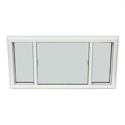 END VENT - The end vent slider features two venting sashes with a low fixed centre sash. When a window opening is wider than 74 inches and a sliding option is desired, the end vent slider is the most effective option available.